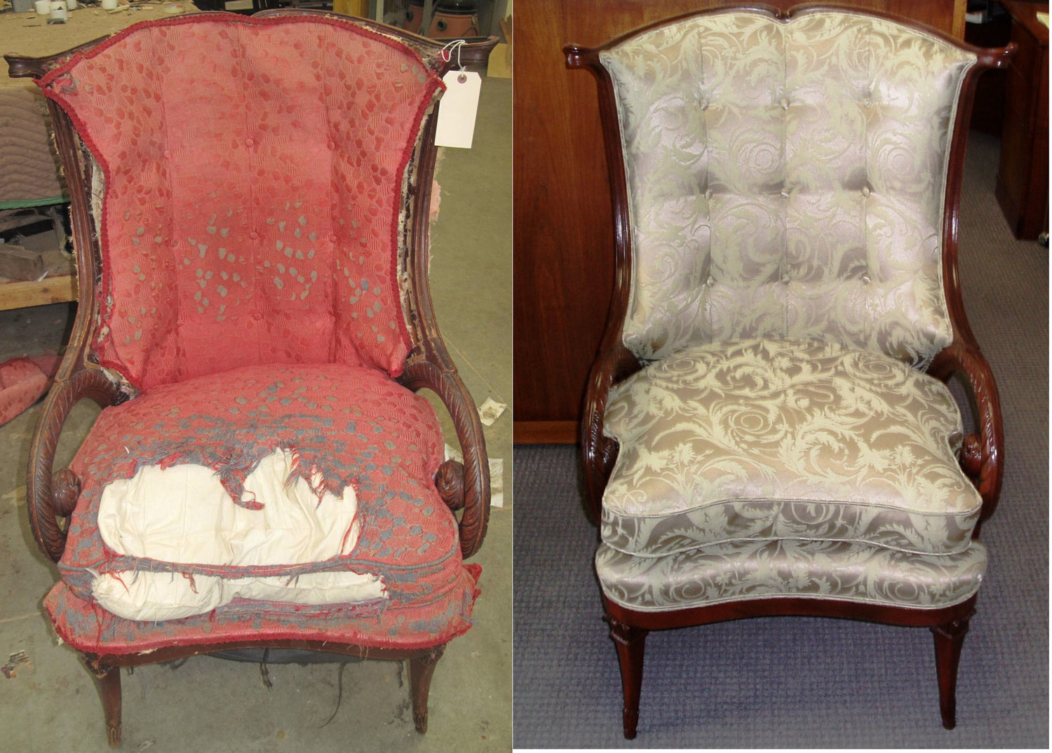 antique chair - Thomas G Upholstery