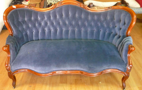 antique couch upholstery